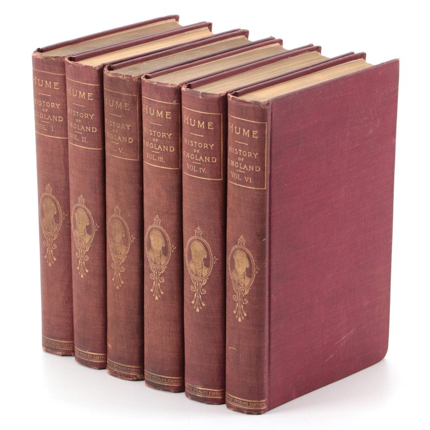 """Complete """"History of England"""" Six-Volume Set by David Hume, Early 20th Century"""