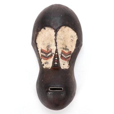 Mbaka Inspired Carved Wood Mask, Central Africa