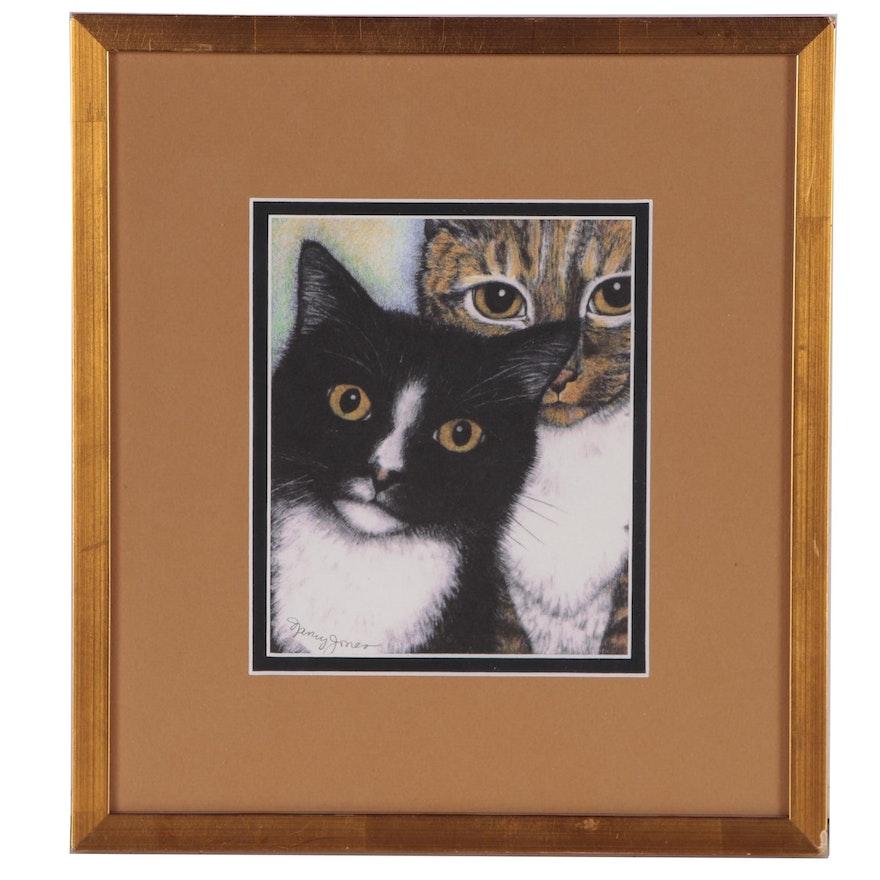 Nancy Jones Giclée of Cats