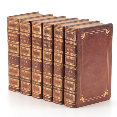 """Varietate Lectionis et Perpetua Adnotatione"" Six-Volume Set by Virgil, 1800"