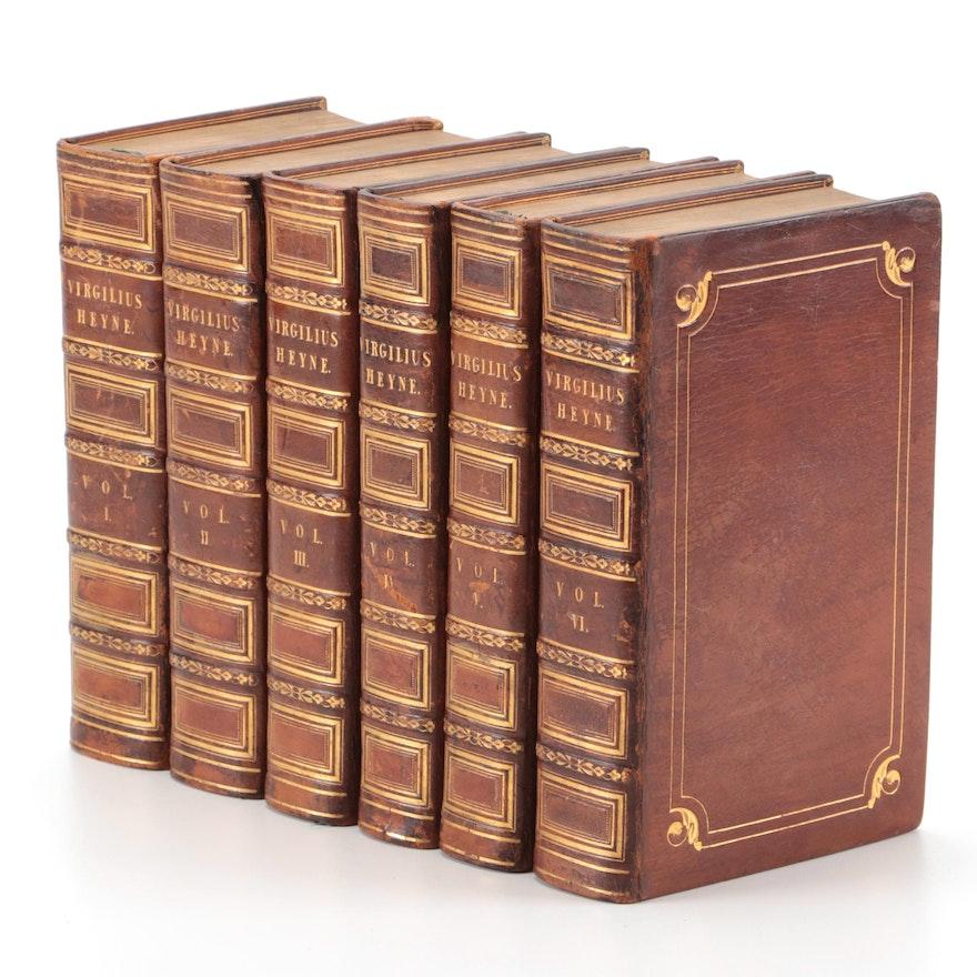 """Varietate Lectionis et Perpetua Adnotatione"" Six-Volume Set by Virgil, 1800"