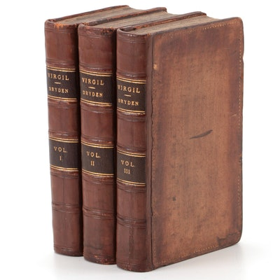 """The Works of Virgil"" Three-Volume Set Translated by John Dryden, 1730"