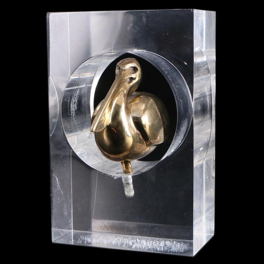 Loet Vanderveen Bronze Sculpture of a Pelican