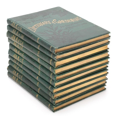 """Illustrated Dictionary of Gardening"" Eight-Volume Set with Supplements, 1900"