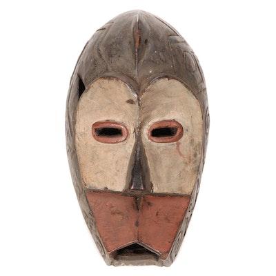 Lulua Style Carved Wood Mask, Democratic Republic of the Congo