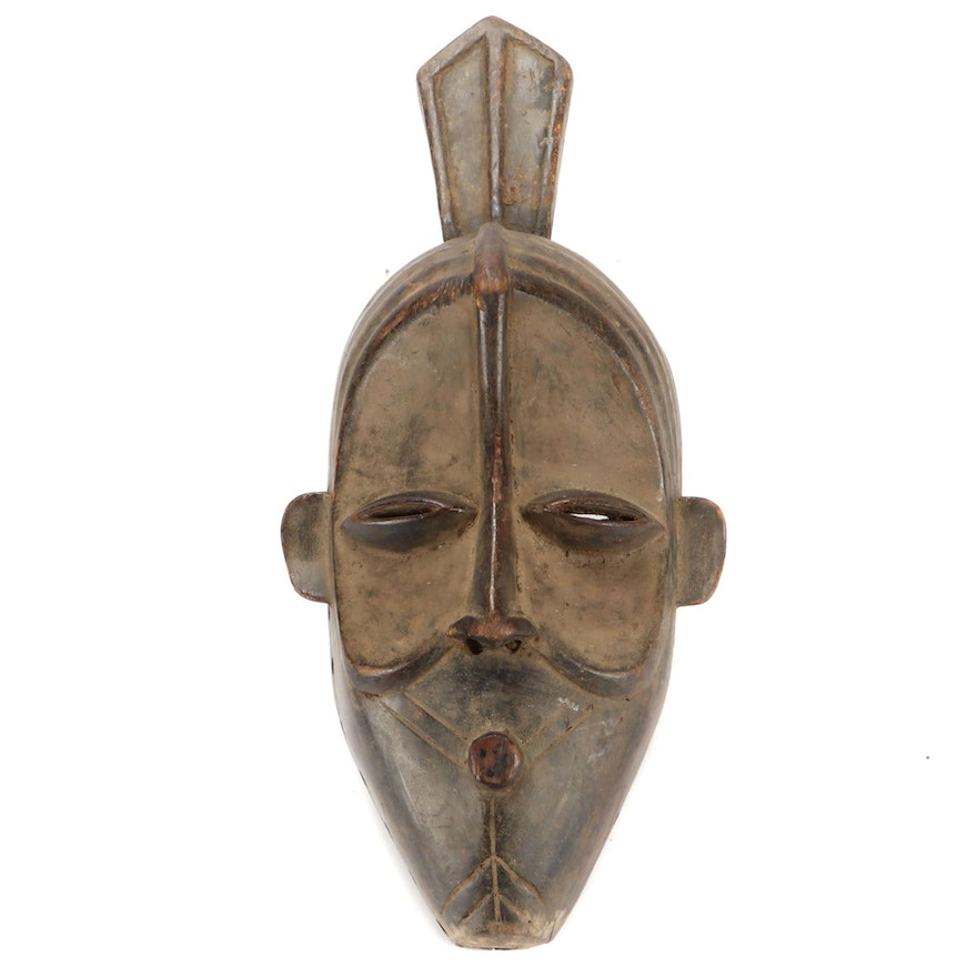 Lulua Style Carved Wood Mask, Democratic Republic of the Congo