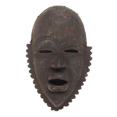 Dan Style Hand-Carved Wood Mask, Africa
