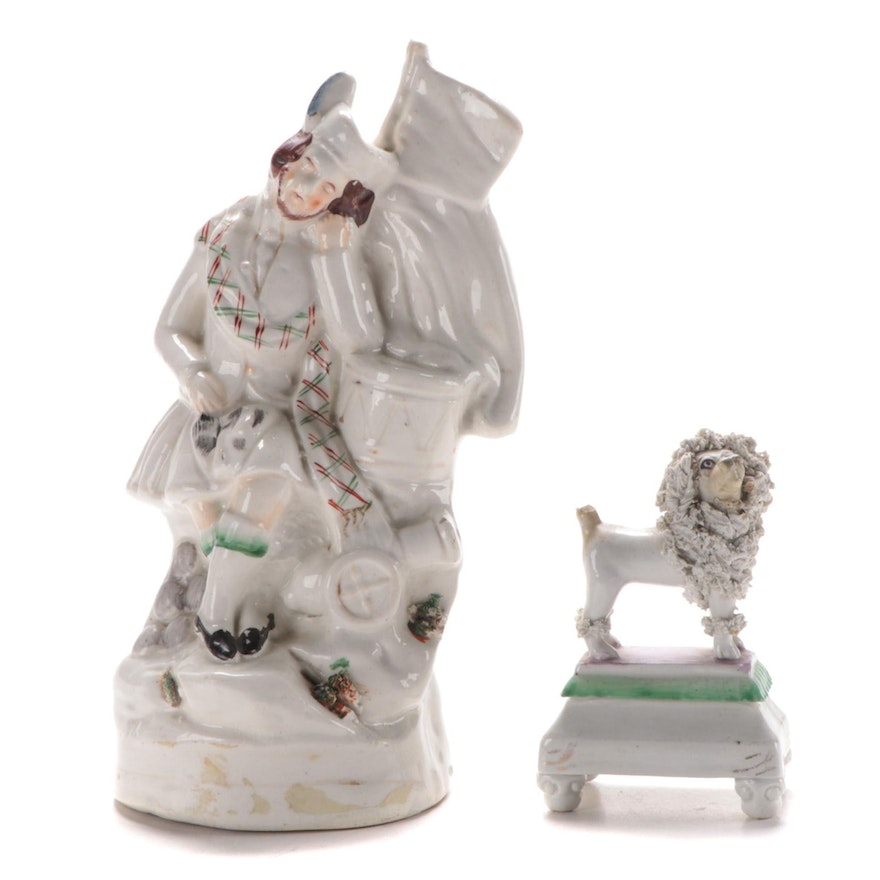 Two Staffordshire Figures, Mid to Late 19th Century
