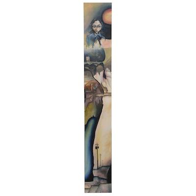 Brian Mashburn Surrealist Style Oil Painting, 21st Century