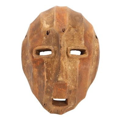 Lega Inspired Carved Wood Mask, Democratic Republic of the Congo