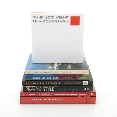 """""""Frank Lloyd Wright, An Autobiography,"""" with other Art and Architecture Books"""
