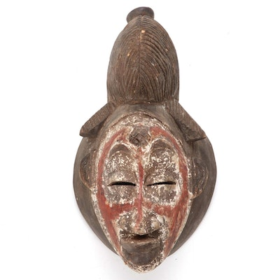 Punu Style Wooden Mask, Central Africa