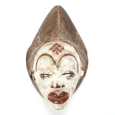 Punu Style Wood Mask, Central Africa