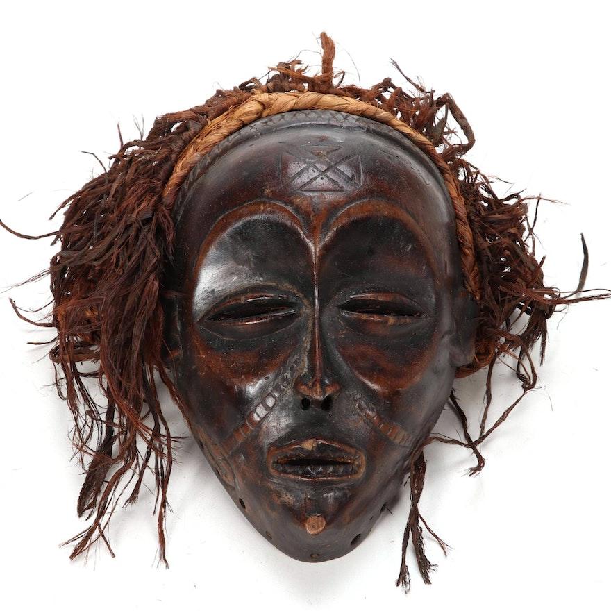 Chokwe Style Wood Mask, Central Africa