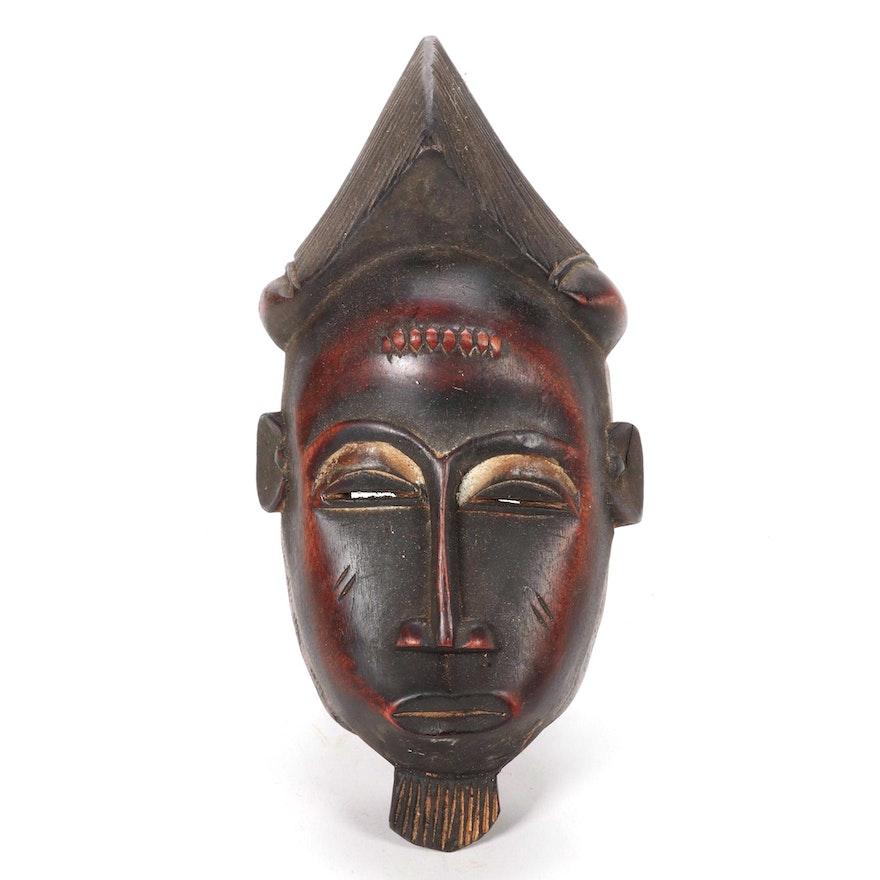 Baule-Yaure Style Wood Mask, Côte d'Ivoire