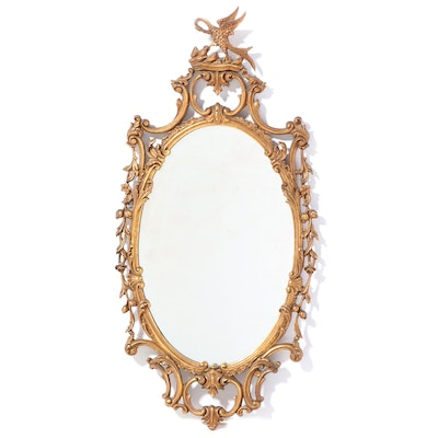 George III Style Giltwood Mirror, 20th Century