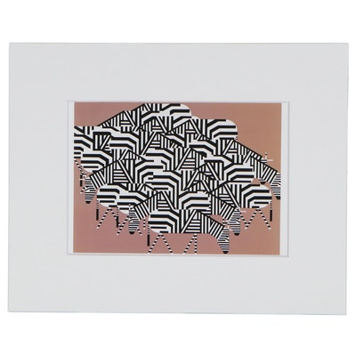 "Offset Lithograph after Charley Harper ""Serengeti Spaghetti"""