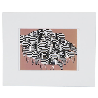 """Offset Lithograph after Charley Harper """"Serengeti Spaghetti"""""""