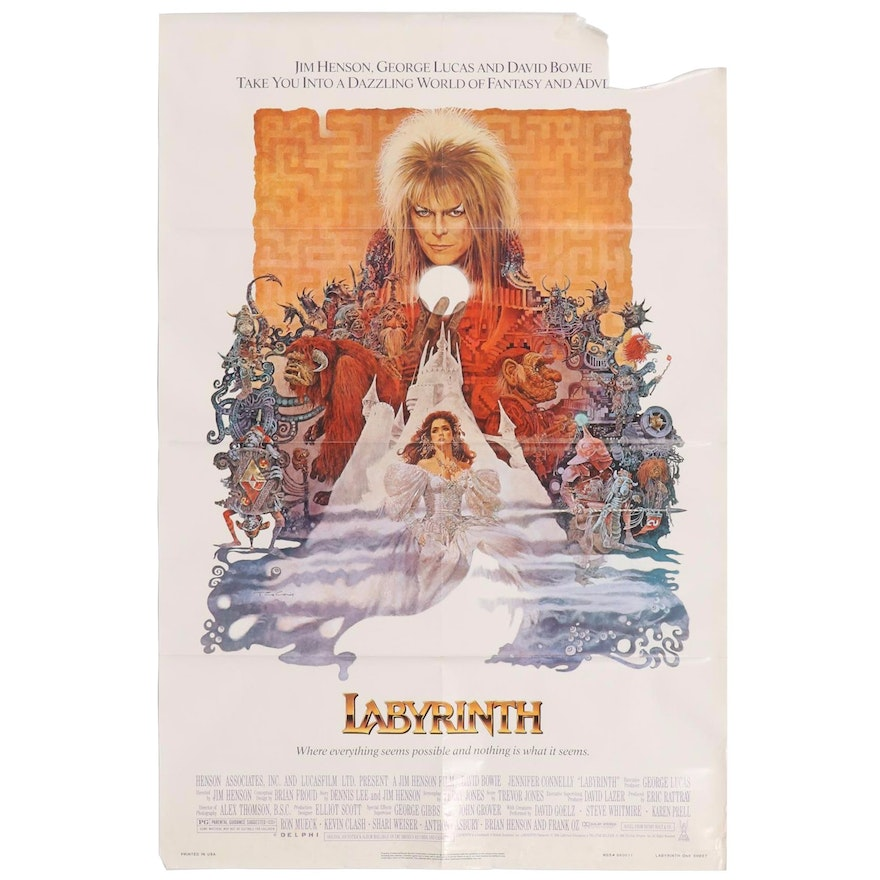 """""""Labyrinth"""" One Sheet Movie Poster, 1986"""