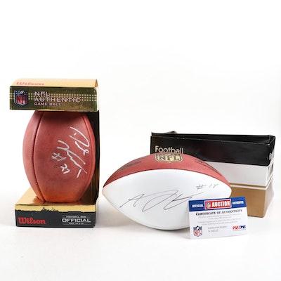 A.J. Green, Dre Kirkpatrick Autographed Cincinnati Bengals Footballs