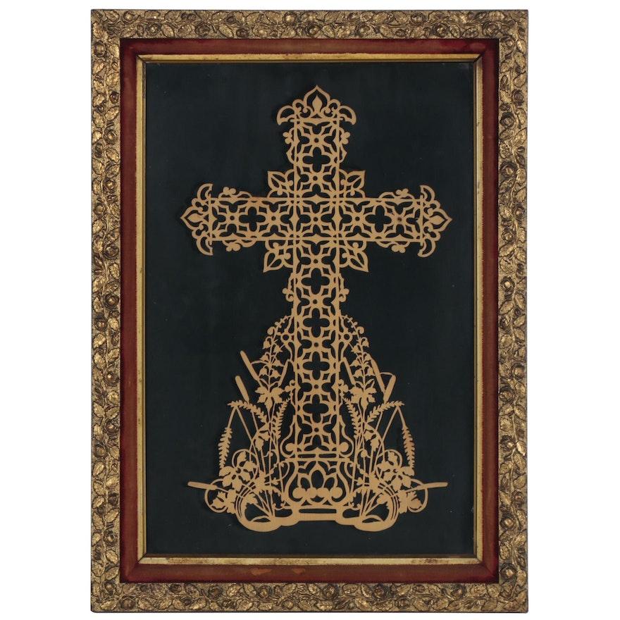 Laser-Cut Wooden Cross Wall Hanging