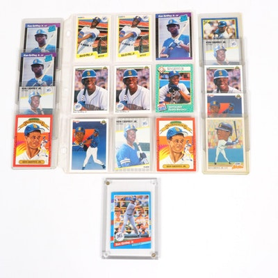 Ken Griffey Jr. Rookie and MLB Trading Cards, 1980s-1990s