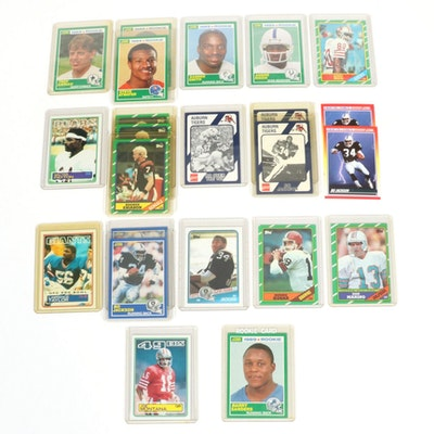 Barry Sanders, Bo Jackson, Jerry Rice Rookies and Other Football Cards, 1980s