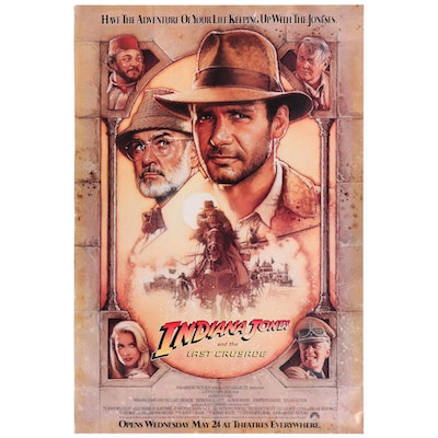 """Indiana Jones and the Last Crusade"" One Sheet Movie Poster, 1989"