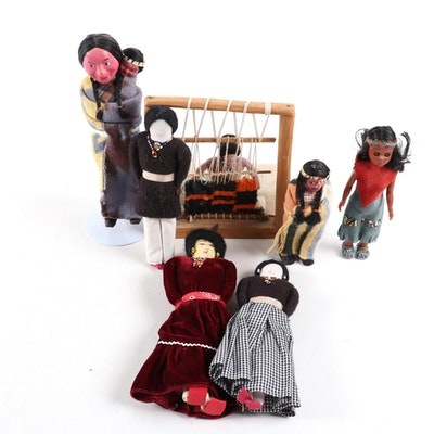 Souvenir Dolls from Around the World in Traditional Attire
