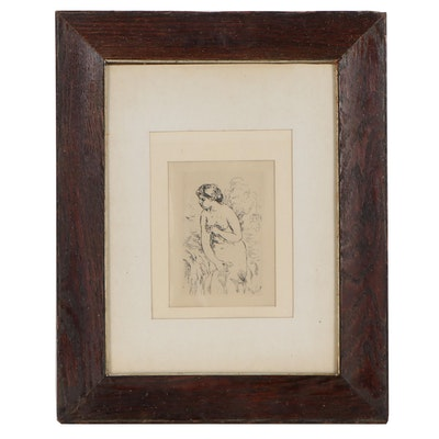 "Pierre-Auguste Renoir Restrike Etching ""Baigneuse Debout, à Mi-Jambes"""