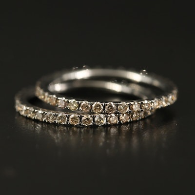 14K 1.22 CTW Diamond Eternity Bands