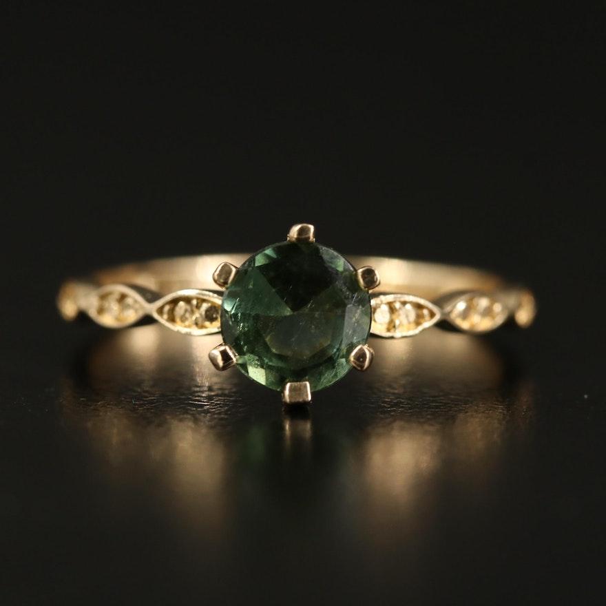 14K Tourmaline Ring