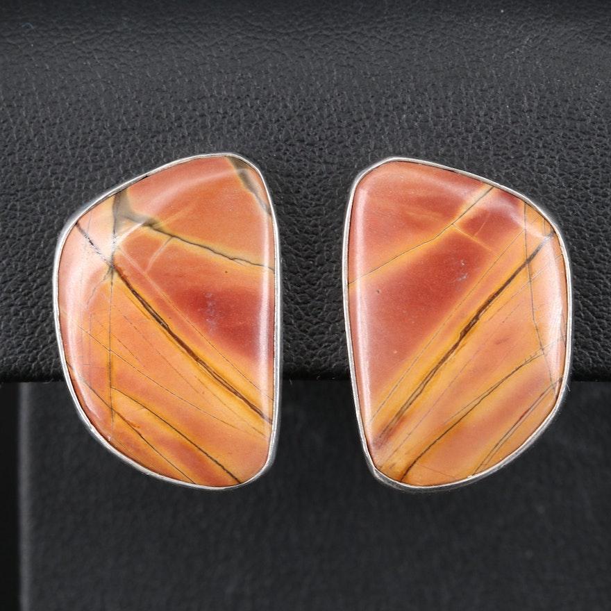 Charles Albert Jasper Earrings in Sterling Silver