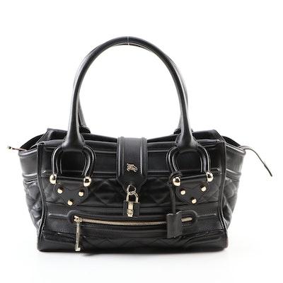 Burberry Manor Dark Brown Leather Shoulder Bag