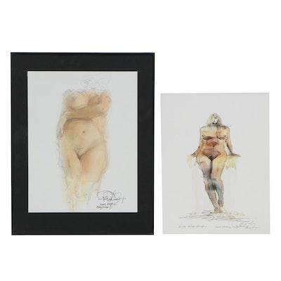 Robert Lackney Hand-Embellished Giclées of Nudes