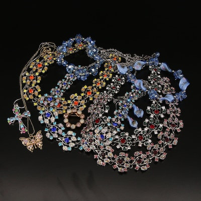 Jewelry Selection Featuring Murano Glass Twist Bead Set