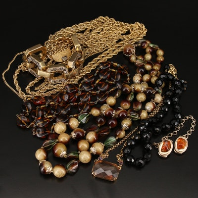 Jewelry Featuring Glass and Snake Skin