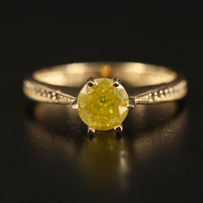 Tapered 14K 1.01 CTW Diamond Ring