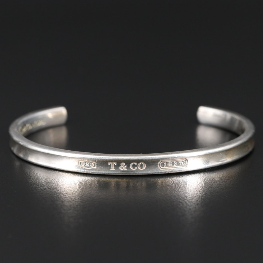 "Tiffany & Co. ""1837"" Sterling Silver Cuff"