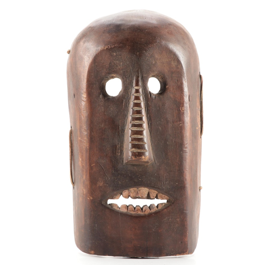 Mbaka/Ngbaka Style Carved Wood Mask, Central Africa