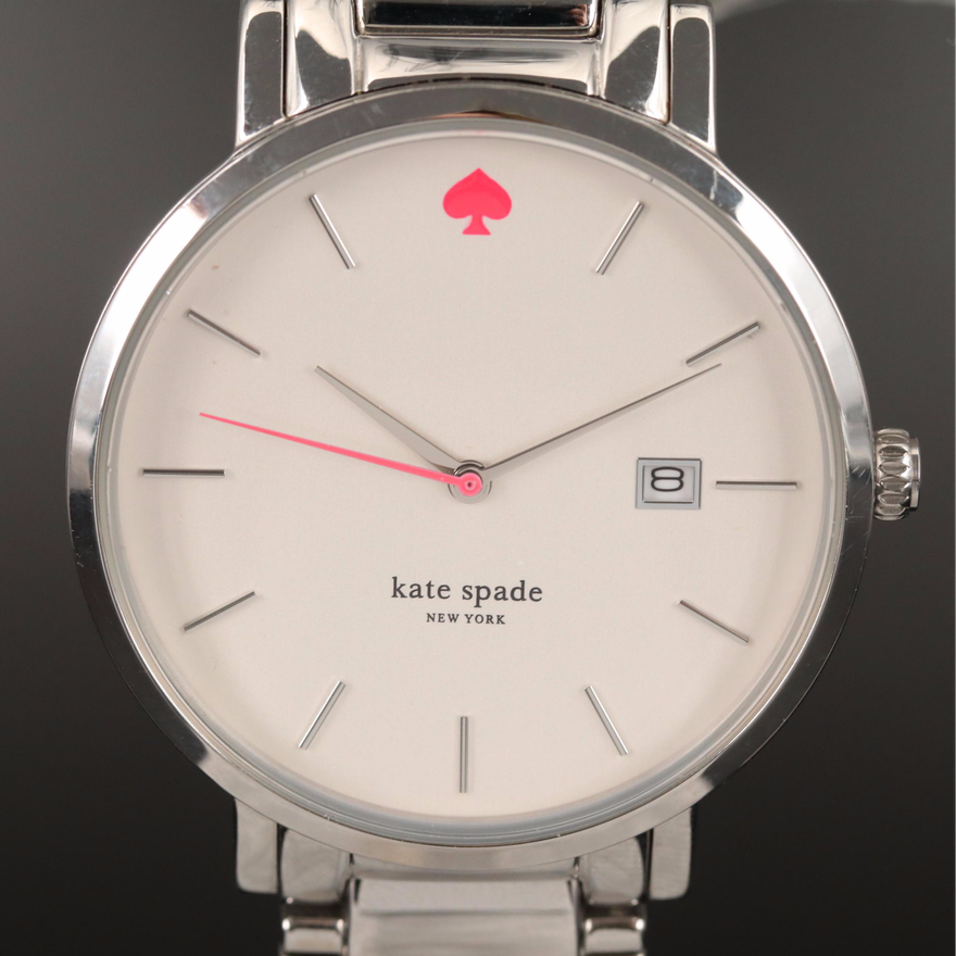 "Kate Spade ""Gramercy"" Stainless Steel Quartz Wristwatch"
