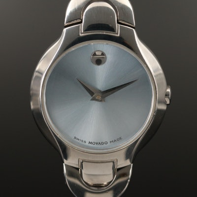 "Movado ""Amorosa Museum Piece"" Stainless Steel Wristwatch"