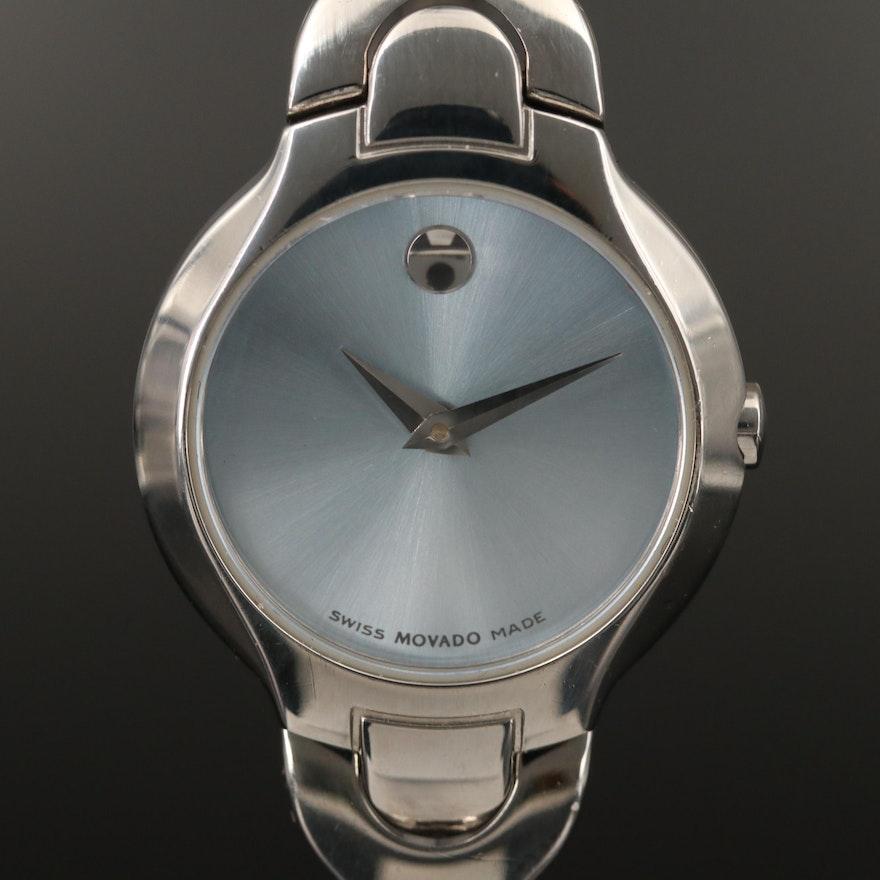"Movado ""Amorosa Museum Piece"" Stainless Steel Wristwatch"