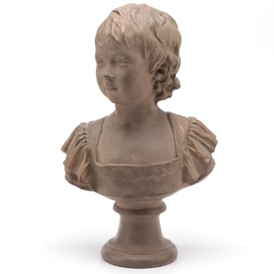 Chalkware Bust of Child