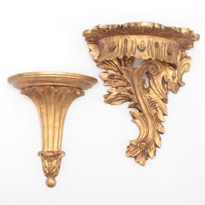 Florentia, and Other Italian Giltwood Wall Bracket,20th Century