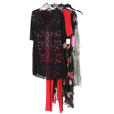 Betsey Johnson, Halston Heritage, and Gabby Skye Dresses and Jumpsuit