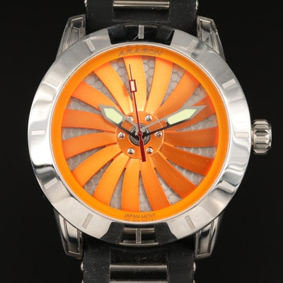 "Aragon ""Time Machine"" Stainless Steel Automatic Wristwatch"