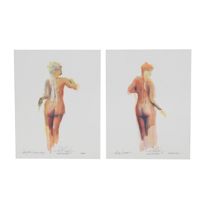 "Robert Lackney Watercolor Paintings over Giclée ""Molly"""