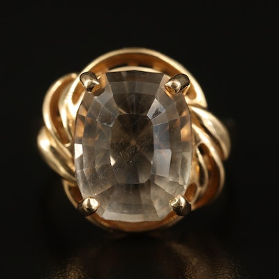 14K 22.04 CT Topaz Statement Ring