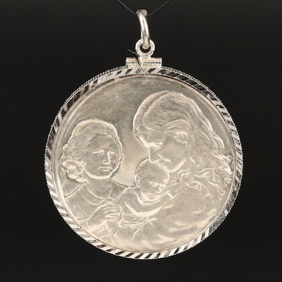 Vintage Hamilton Mint Fine Silver Mother's Day Medallion